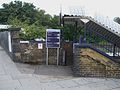 Catford Bridge stn east stairs entrance.JPG