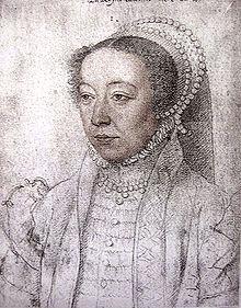 Caterina de' Medici, ritratta da François Clouet (1555 circa).