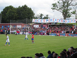 UC Ceares - La Cruz stadium, full, at the playoffs game versus Águilas