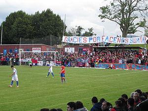 UC Ceares - La Cruz stadium, full, at the playoffs game versus Águilas