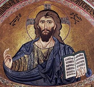 Jesus - Image: Cefalù Pantocrator retouched