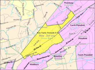 Green Brook Township, New Jersey - Image: Census Bureau map of Green Brook Township, New Jersey