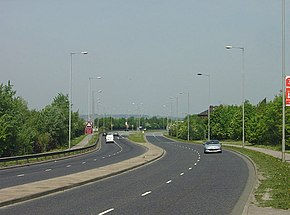 Dual carriageway, four-lane A630 passes through Rotherham as the Centenary Way