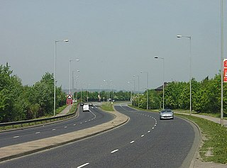 A630 road road in England