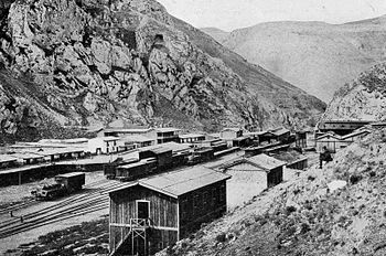 English: The La Oroya train station 1921
