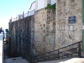 Lisbon - Section of the Cerca Velha (Old Wall). Originally built by Romans, later rebuilt by the Moors.