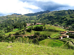 Chacas - Chacas includes moderately steep hills of related agricultural uses.