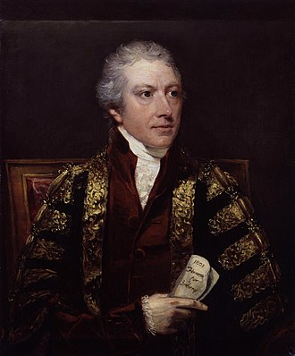 Charles Abbot, 1st Baron Colchester - Lord Colchester by John Hoppner, c. 1802 (Palace of Westminster)