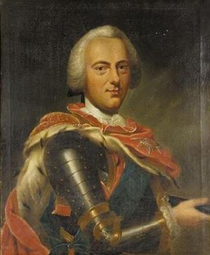 Charles I, Duke of Brunswick-Wolfenbüttel - Painting by Antoine Pesne.