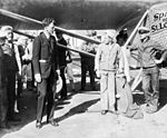 "Charles Lindbergh with the ""Spirit of St. Louis""- Jacksonville, Florida (4147791668).jpg"