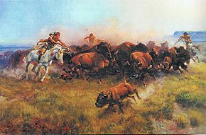 Charles M. Russell - The Buffalo Hunt No 39 - 1919.jpg
