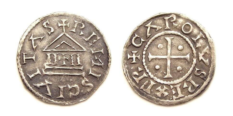 Charles the Bald denier struck Reims