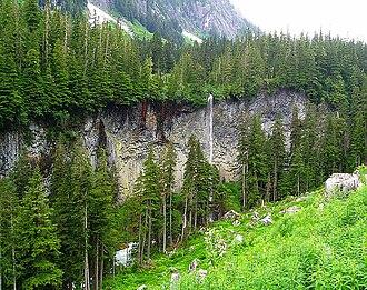 Silverthrone Caldera - Lava front in Charnaud Creek