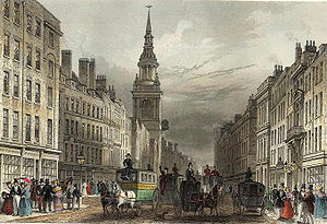 Cheapside - A view of Cheapside published in 1837