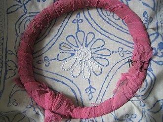 Kurta - Image: Chikan embroidery, Lucknow