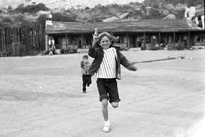 Corriganville Movie Ranch - Children playing at Corriganville, 1963.