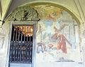 Chiostro grande di smn, lato sud 11, francesco bambocci, santa rosa da lima trasporta la croce, 1750 ca..JPG