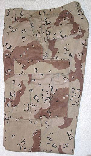 Desert Battle Dress Uniform - DBDU trousers, featuring the chocolate-chip camouflage pattern.