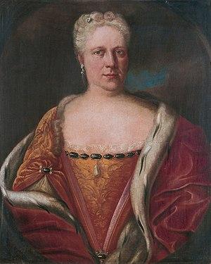 Christiane Charlotte of Nassau-Ottweiler - Christiane Charlotte van Nassau-Ottweiler (1685-1761) (Jacob Hauck, 1729)