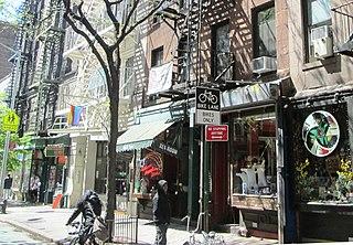 Christopher Street Street in Manhattan, New York