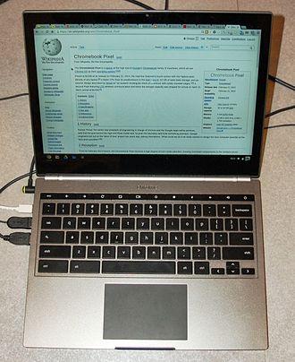 Chrome OS - Chromebook Pixel (WiFi) open