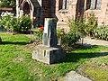 Churchyard cross at St Helen's Church, Tarporley.jpg