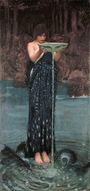 "Invidia - Circe Invidiosa (""Circe, abounding in envy"") by John William Waterhouse"