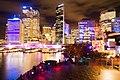 Circular Quay ferry wharf during Vivid Sydney - 20120528.jpg