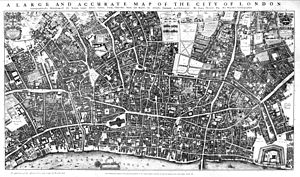 East London - Image: City of London Ogilby and Morgan's Map of 1677
