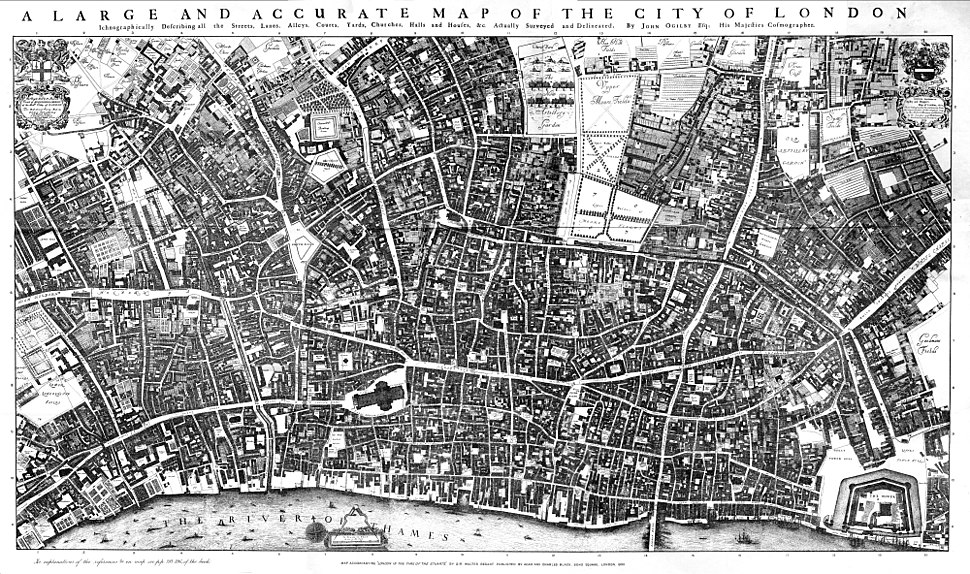 City of London Ogilby and Morgan%27s Map of 1677