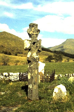 Alasdair mac Mhaighstir Alasdair - Celtic Cross in the Old Cemetery at Kilchoan, Knoydart.