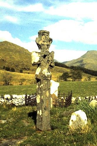 Alasdair mac Mhaighstir Alasdair - Celtic Cross in the Old Cemetery at Kilchoan, Knoydart.