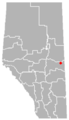 Clandonald, Alberta Location.png