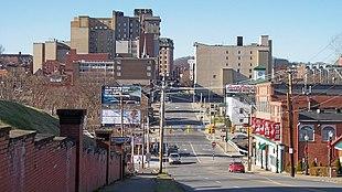 Downtown Clarksburg in 2006