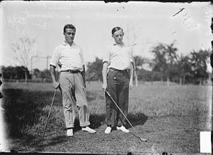 Edward Cummins - Cummins (right) with Clement Smoot.