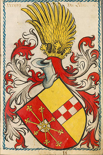Cleves-La Mark coat of arms, 15th century Cleve-Scheibler3ps.jpg