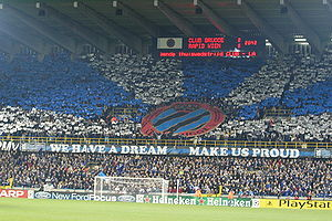 Club Brugge KV - Tifo before the Champions League game Club Brugge-Rapid Wien in 2005