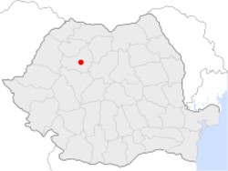 Location of Cluj-Napoca