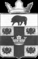 CoA Novonikolsky RS Volgograd oblast with a crown bw 2011.png