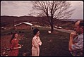 Coalminer C.K. Parker, His Wife and 14-Year-Old Daughter Outside Their Home at Claypool Hill near Richlands, Virginia 04-1974 (3907183430).jpg
