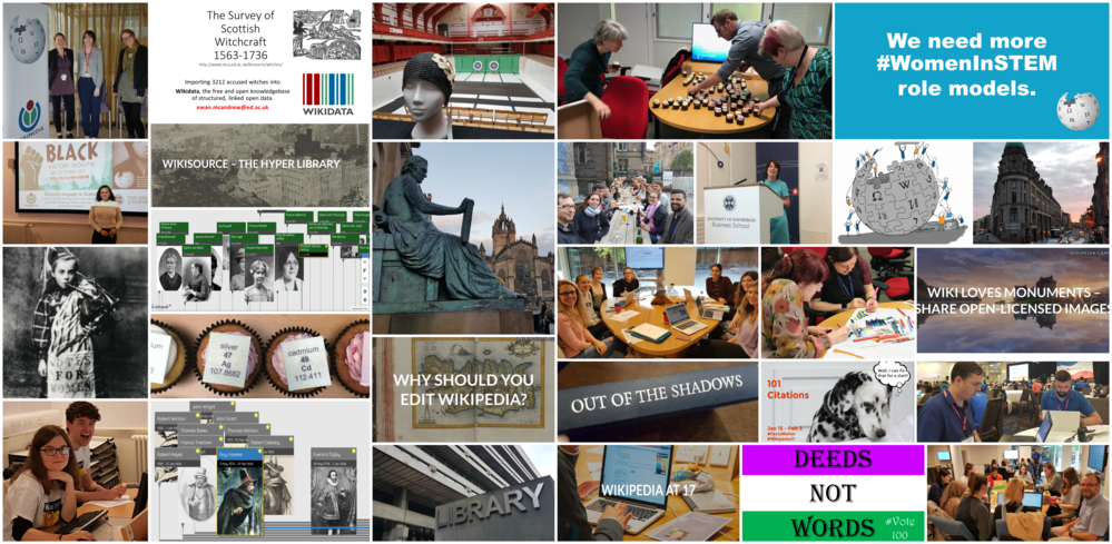 University of Edinburgh Wikimedian in Residence Collage - Year Two images