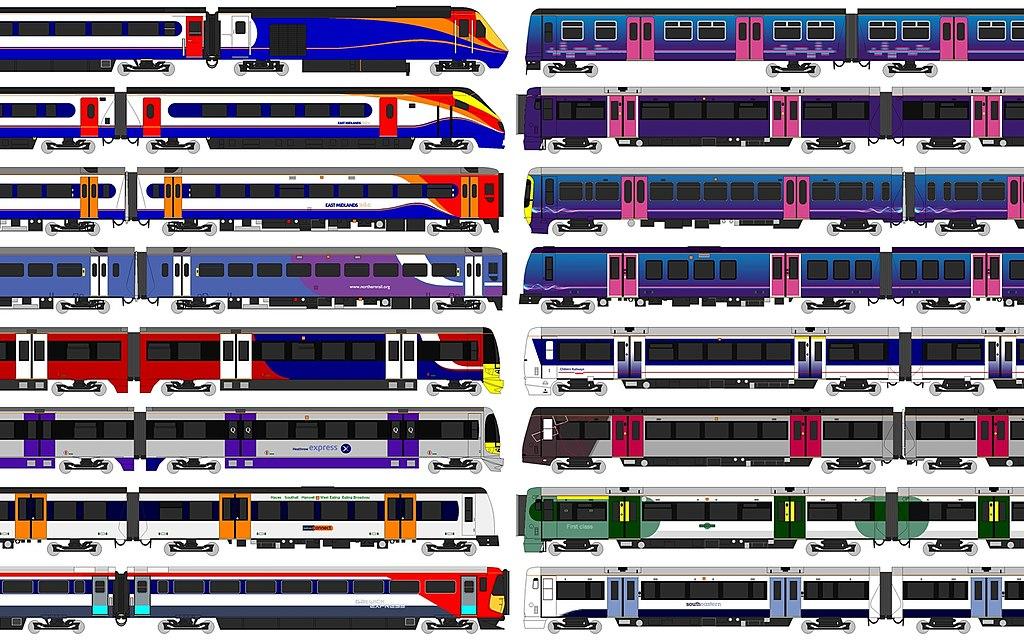 Train pour venir à Londres : Les différentes compagnies locales illustées - Images de Unisouth