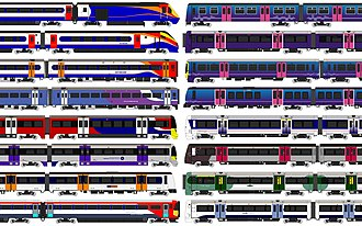 Train operating company - A collection of diagrams of many different TOCs in the United Kingdom