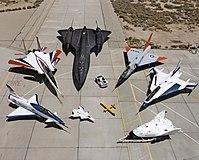X-31, F-15 ACTIVE, SR-71, F-106, F-16XL, X-38,...