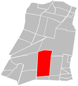 Location of Colonia Doctores (in red) within Cuauhtémoc borough