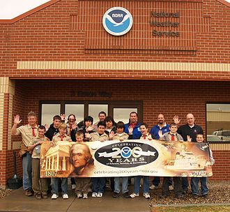 Scouting in Colorado - Colorado Springs Boy Scout Troop 27 at the Weather Forecast Office in Pueblo, Colorado