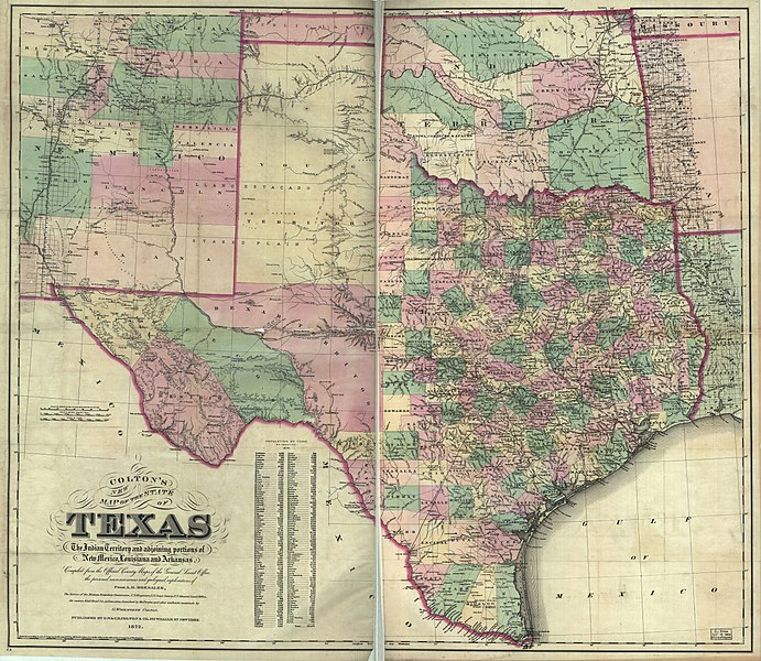 File:Colton's new map of the state of Texas - the Indian Territory on indians iowa map, indians new york map, indians in tennessee, indians in north carolina, indians utah map, indians of central texas, indians in texas history, indians in idaho, indians in washington state, indians in pennsylvania, indians ohio map, indians in rhode island, indians in south carolina, tonkawa indians map, indians in north dakota, indians in wisconsin,
