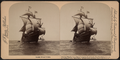 "Columbus' flagship ""Santa Maria,"" Columbus Naval parade, New York Harbor, U.S.A, from Robert N. Dennis collection of stereoscopic views 4.png"
