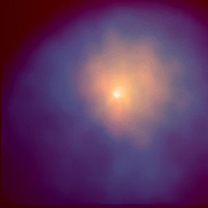 Comet Hyakutake - Comet Hyakutake captured by the Hubble Space Telescope on 4 April 1996, with an infrared filter