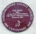 Commemorative plaque accompanying The Hart - geograph.org.uk - 270618.jpg